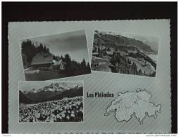 En Avion Au-dessus Des ... Pleiades - Restaurtant-Pension Pléiades S/Vevey -Multi-Vues - Suisse 1962 - VD Vaud