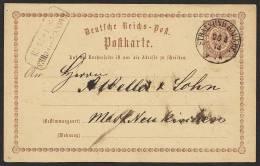"""Nachverwendeter Stempel """"Stralsund Bahnhof"""" Auf DR P 1 , Bedarf, 1873 - Preussen"""