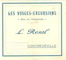 LES  VOSGES  -  EXCURSIONS  &  CONTREXEVILLE   &  L.  RESAL - Publicités