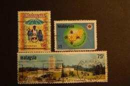 MALESIA 2 VALORI USATI - Malesia (1964-...)