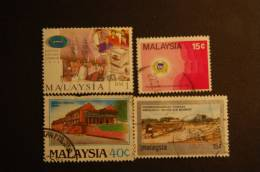 MALESIA 4 VALORI USATI - Malesia (1964-...)