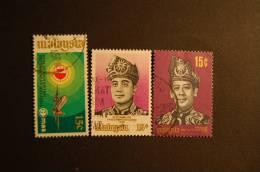 MALESIA 3 VALORI USATI - Malesia (1964-...)