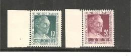 DSP1012 / Michel Franz. Zone   Wuerttemberg . 47/48 Werner Stiftung 1949, Randsatz ** MNH - French Zone