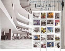 UN-New York. S45 Scott # 1038a-j, MNH. Personalized Sheet Of 10+10 Labels. Guided Tour Of UN.  2012 - New-York - Siège De L'ONU