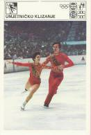 SPORT CARD No 102 - FIGURE SKATING, Yugoslavia, 1981., 10 X 15 Cm - Skating (Figure)