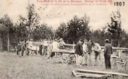 CPA Préparation Fete De La Montagne De Beaune Montage Du Grand Mat 1907 - Beaune