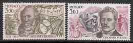 N° 1389 Et N° 1390 De Monaco - X X - ( E 794 ) - ( Brahms Et Puccini ) - Musique