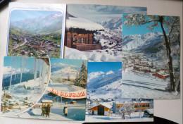 Lot 5x La Clusaz Multi Vues Souvenir Station Piste Ski Chaine Des Aravis Voir Photos Pour Flamme - La Clusaz
