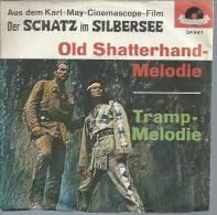 """45 Tours SP - Du Film """" WINNETOU OLD SHATTERHAND """" ( LEX BARKER / PIERRE BRICE ) - Soundtracks, Film Music"""