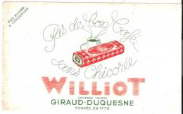 "Buvard ""WILLIOT"" Giraud-Duquesne Chicorée - Café & Thé"