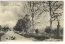 Carte Postale Ancienne Moffans - Place Du Champ De Foire - France