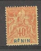 Bénin _  Colonies- 40c.orange /paille -  N°39  _
