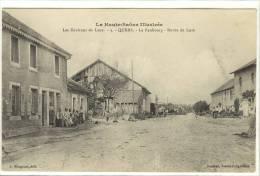 Carte Postale Ancienne Quers - Le Faubourg. Route De Lure - France
