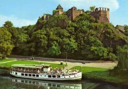 01912 Motorschiff SAALETAL Bei Der Burg Giebichenstein Auf Der Saale - Paquebots