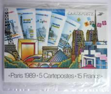 FRANCE LOT De 5 ENTIERS POTAUX DIFFERENTS ENTIER POSTAL - PARIS 1989 - 5 EP NEUFS DANS SACHET D´ORIGINE - Collections & Lots: Stationery & PAP