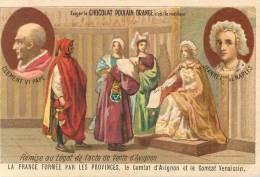 Chromos Réf. A346. Chocolat Poulain - Clément VI Pape, Jeanne 1ère De Naples - Le Comtat D'Avignon Et Le Comtat Venaiss - Poulain