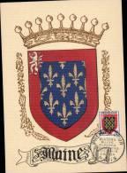 N°999 SUR CARTE POSTALE ILLUSTREE _ MAINE _ PARIS _ 3.11.1954 - 1950-59
