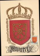 N°1000 SUR CARTE POSTALE ILLUSTREE _  NAVARRE _ PARIS _ 3.11.1954 - Maximum Cards