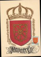 N°1000 SUR CARTE POSTALE ILLUSTREE _  NAVARRE _ PARIS _ 3.11.1954 - 1950-59