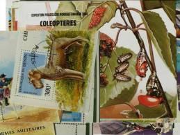 AFRIQUE (française) Lot 100 Blocs Feuillets Tous Differents Et Oblitérés - France (ex-colonies & Protectorats)