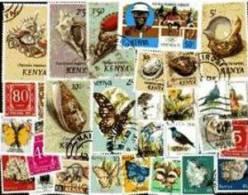 KENYA OUGANDA Lot De 200 Timbres Tous Differents Neufs Et Oblitérés.(lire La Description) - Kenya (1963-...)