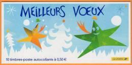 Timbres France 2004 - Carnet N° BC 3722 ** - Meilleurs Voeux (Adésifs-autocollants) - Carnets