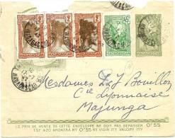 LACMN - MADAGASCAR EP ENVELOPPE GALLIENI 50c + COMPL.TS POUR MAJUNGA JUILLET 1942 - Cartas