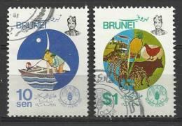 BRUNEI 1981 - WORLD FOOD DAY - CPL. SET -  USED OBLITERE GESTEMPELT USADOS - Brunei (...-1984)