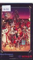 Télécarte Japon NOËL (1634) MERRY CHRISTMAS * Phonecard * Telefonkarte WEIHNACHTEN JAPAN * KERST NAVIDAD * NATALE - Navidad