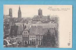 GAND-GENT -panorama De La Ville-st Bavon-le Beffroi-eglise St Nic -non Circulée - Edit.H.N à .A  202 -(scan Recto-verso) - Gent