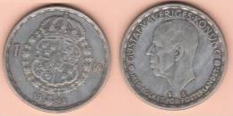 MONETA DA 1 CORONA DEL 1948 DELLA SVEZIA ARGENTO 0,400 COME DA IMMAGINE - Danimarca