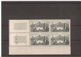 MARSEILLE LE VIEUX PORT  Bloc De 4 Coin Daté  N° 1037 **  07.09.55 - 1950-1959