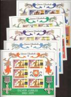 Dominica 1977  Silver Jubilee Coronation Queen Elisabeth - Blocks - Complete, MNH**, Postfrisch Ohne Falz , Neuf Sans Ch - Dominica (1978-...)
