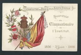 Thielt - Souvenir Du Cinquantenaire De L'Institut  Dames De La Sainte Famille. 1856-1906. Lithographie Gaufrée - Tielt
