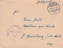 Feldpost WW2: From Reserve Lazarett Pressbaum Dtd Pressbaum B 26.3.1943 - Letter Inside (B407) - Militaria