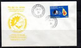Sri Lanka 1971 Colombo Plan On Scarce FDC (SL55) - Sri Lanka (Ceylon) (1948-...)