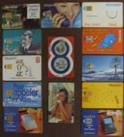 """FRANCE LOT DE 13 DIFF (années """"90"""") Utilisées - Télécartes"""