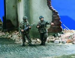 - VERLINDEN - Figurines British Paras Bren Team - 1/35°- Réf 1776 - Beeldjes