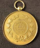 M01120 Soc. Royale Saint Sébastien Crossbow Hallebarde 1906 Et Léopold II Revers Par Hart Et Devign (56 G.) - Royal / Of Nobility