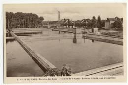 LE MANS. - USINES DE L´EPAU. - Service Des Eaux Et De L´Eclairage. - Bassins Filtrants, Vue D'ensemble - Le Mans