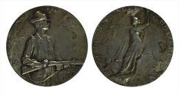 AG00027 Suisse Schweiz, Chasseur St Gal ST Gallen, Tor, Fusil, Schuss Schutzenfest Par Huguenin 1904, Argent (16 G.) - Jetons & Médailles