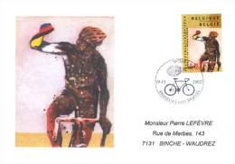 Enveloppe 2002 N° 3053 Avec FDC(prévente) - Cyclocross - FDC
