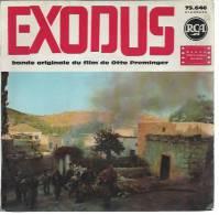 "45 Tours EP - Du Film "" EXODUS "" ( PAUL NEWMAN / SAL MINEO / JOHN DEREK ) - Filmmusik"