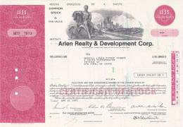 Bonds/Shares: 1971 Arlen Realty & Development Corp., Value 5 Shares (A 388) - Industrie