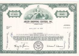 Bonds/Shares: 1970 Arlen Shopping Centers, Inc., Value 100 Shares (A 388) - Industrie