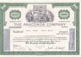 Bonds/Shares: 1974 The Anaconda Company, Value 100 Shares (A 388) - Mines