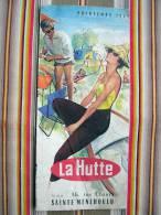 51 SAINTE MENEHOULD Rare Depliant Publicitaire LA HUTTE  Printemps 1961 CAMPING - Werbung