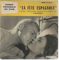 """45 Tours EP - Du Film """" LA FETE ESPAGNOLE """" ( PETER VAN EYCK / DAHLIA LAVI ) - Soundtracks, Film Music"""