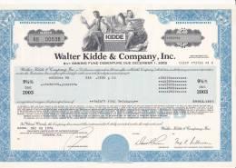 Bonds/Shares: 1978 Walter Kidde & Company, Inc. Value 25000$ 9 3/4% (A 388) - Shareholdings