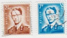1971 - BELGIË/BELGIQUE/BELGIEN - Y&T 1574/1575 - Boudewijn/Baudouin (1930-1993) - 1953-1972 Glasses